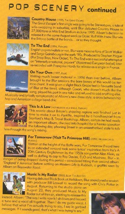 Blur In Mojo Nov 2000 2 Rock Stars Are Not Cool